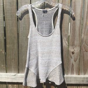 Sparkle & Fade Cream Low Hi Tank Top